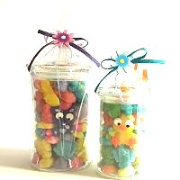 Easter Candy Filled Glass Jars