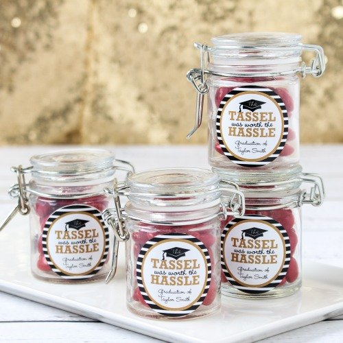 Graduation Party and Gift Guide - Personalized Graduation Party Glass Favor Jars