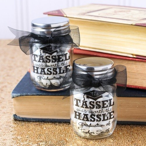 Graduation Party and Gift Guide - Personalized Graduation Party Printed Mini Mason Jars