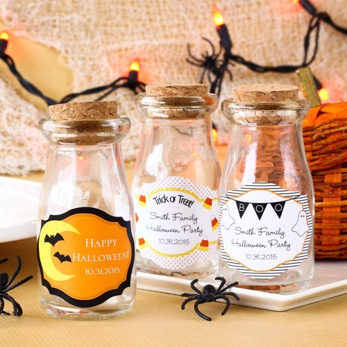 Halloween Party Favour Guide - Personalized Halloween Vintage Milk Jar