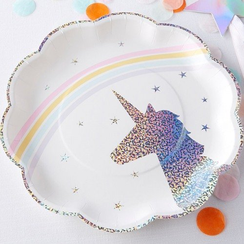 Enchanted Unicorn Party Paper Plates