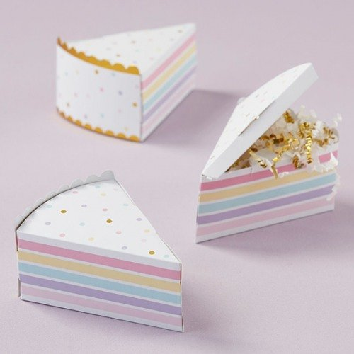 Cake Slice Favor Boxes