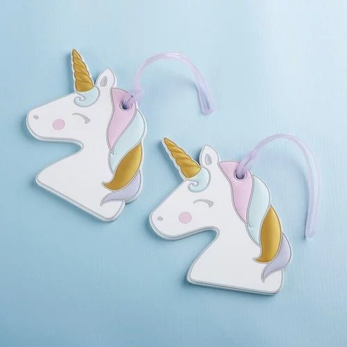 Unicorn Luggage Tag Favors