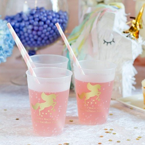 Unicorn Personalized Plastic Cups