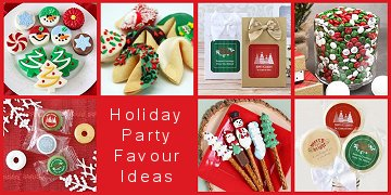 Holiday party gift favours
