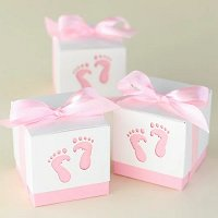 Baby Girl Shower Party Favours - Baby Feet Favour Boxes