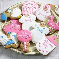Baby Girl Shower Party Favours - Custom Designed Baby Shower Cookies