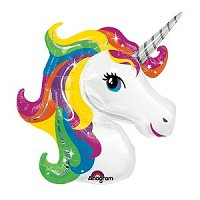 Unicorn Magical Party Supplies - Large Rainbow Unicorn Supershape Foil Balloon