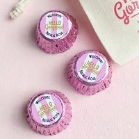 Baby Girl Shower Party Favours - Personalized Baby Shower Reese's Peanut Butter Cups