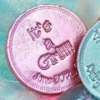 Baby Girl Shower Party Favours - Personalized Baby Shower Chocolate Coins