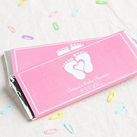 Baby Girl Shower Party Favours - Personalized Baby Shower Hershey's Chocolate Bars