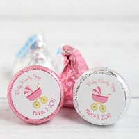Baby Girl Shower Party Favours - Personalized Baby Shower Hershey's Kisses