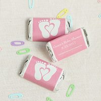 Baby Girl Shower Party Favours - Personalized Baby Shower Hershey's Miniatures