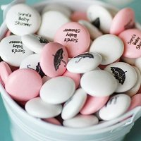 Baby Girl Shower Party Favours - Personalized Baby Shower Party Mint Chocolate Favours