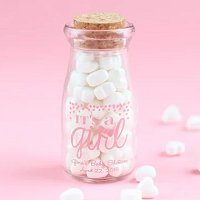Baby Girl Shower Party Favours - Personalized Baby Shower Vintage Milk Jars