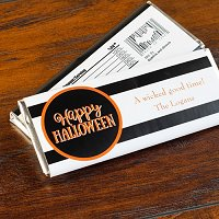 Halloween Party Favour Guide - Personalized Halloween Hershey's Chocolate Bars