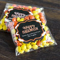 Halloween Party Favour Guide - Personalized Halloween Clear Party Candy Bags