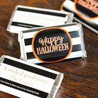 Halloween Party Favour Guide - Personalized Halloween Party Hershey's Miniatures