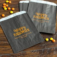 Halloween Party Favour Guide - Personalized Halloween Party Sweets 'n Treats Bag