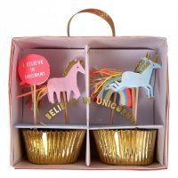 Unicorn Magical Party Supplies - I Believe In Unicorns Cupcake Kit