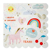 Unicorn Magical Party Supplies - Unicorns Large Party Napkins
