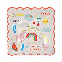 Unicorn Magical Party Supplies - Unicorns Small Party Plates