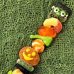 Halloween Candy Kabobs - Brochettes